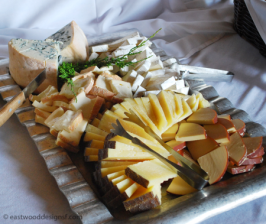 Cheese plate at fundraiser
