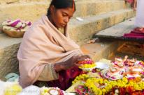 Flower seller—Varanasi, India